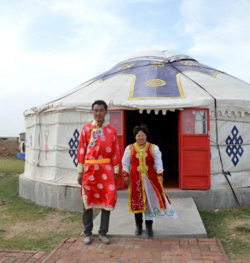 China - Mongolian local family