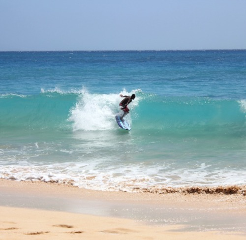 Hawaii - Maui shortboard surfer