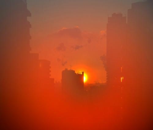Toronto orange sunset